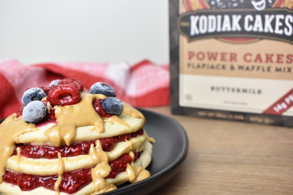 peanut butter jelly pancakes