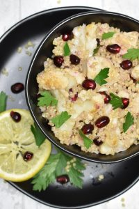 cauliflower pomegranate quinoa salad