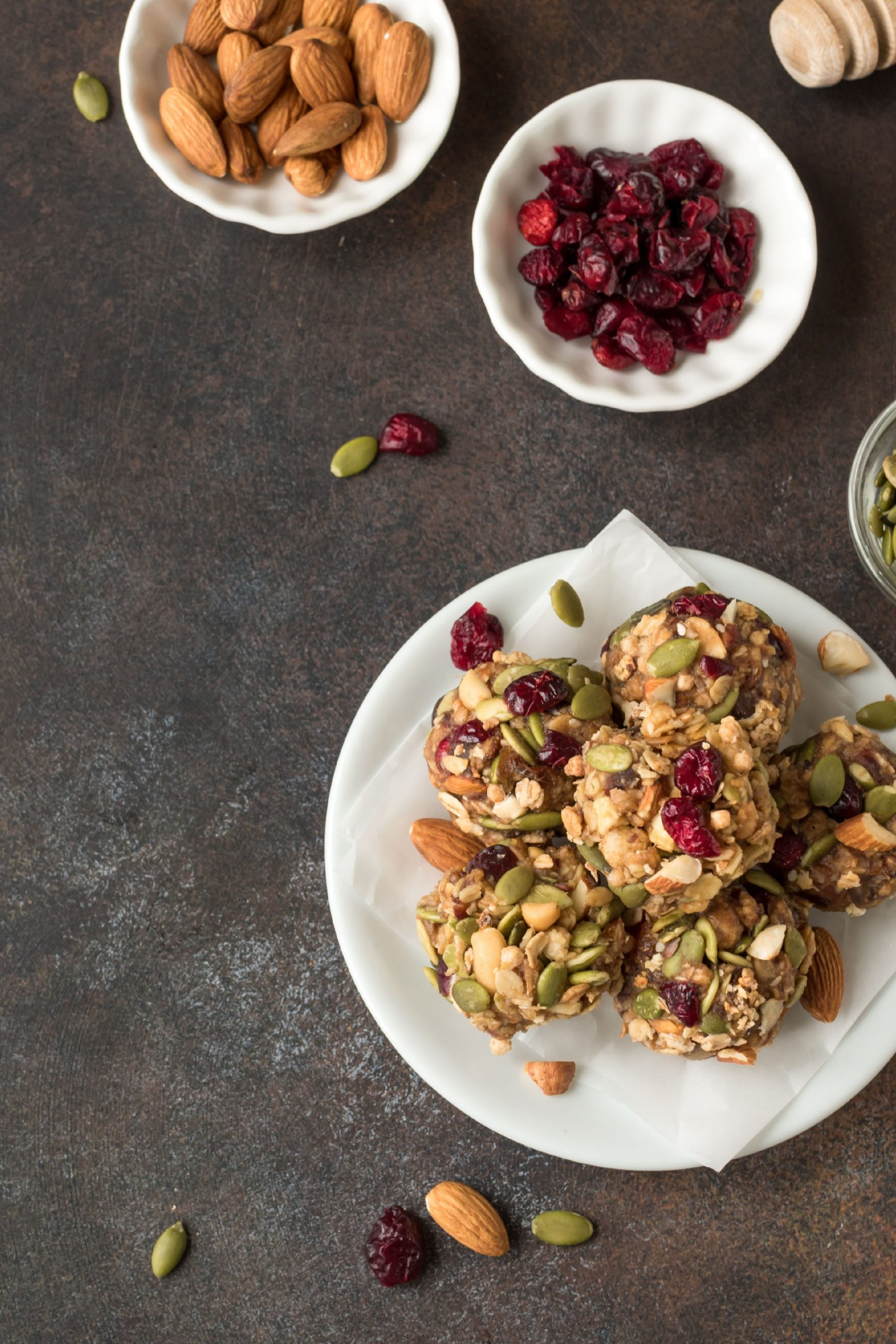 healthy snacks on plates