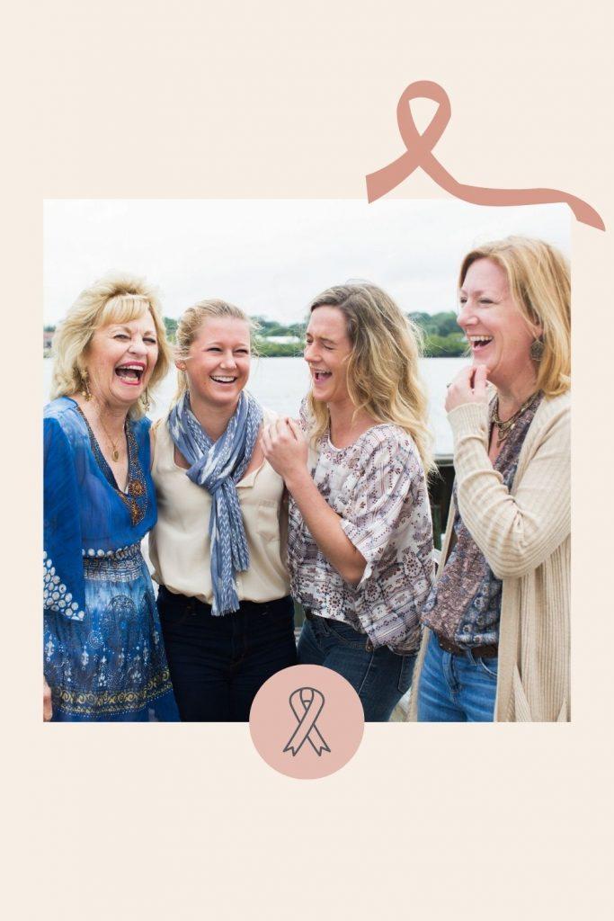 four women laughing