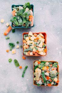 frozen vegetables in cup