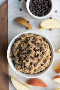 chickpea cookie dough in bowl