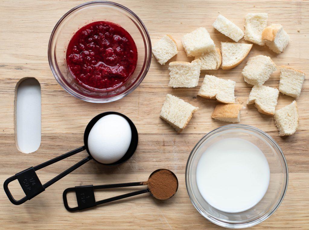 raspberry mug French toast
